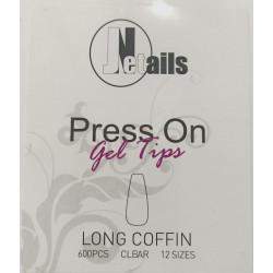 TIP GEL LONG COFFIN 600 PZ